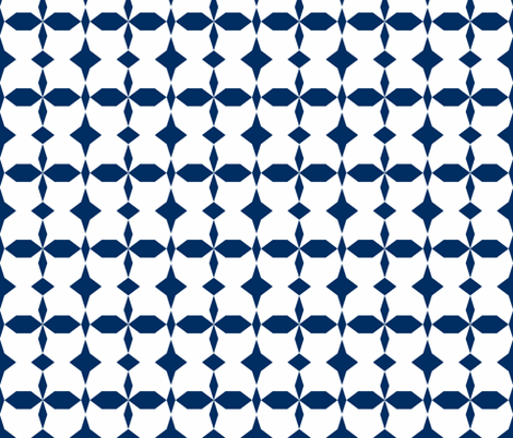 dodeca navy - white fabric by arm_pillozzz on Spoonflower - custom fabric