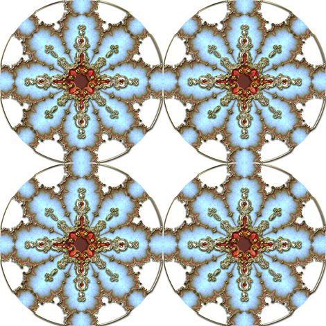 Fake Gilt Snowflake 2 fabric by eclectic_house on Spoonflower - custom fabric