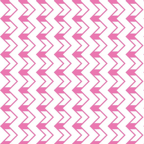 Nested chevrons pink - white