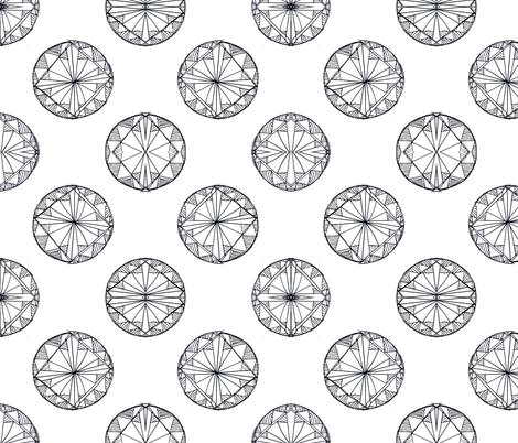 Gem Sketch fabric by msbrown on Spoonflower - custom fabric