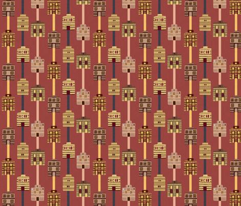 Minoan house stripes incl gray fabric by su_g on Spoonflower - custom fabric