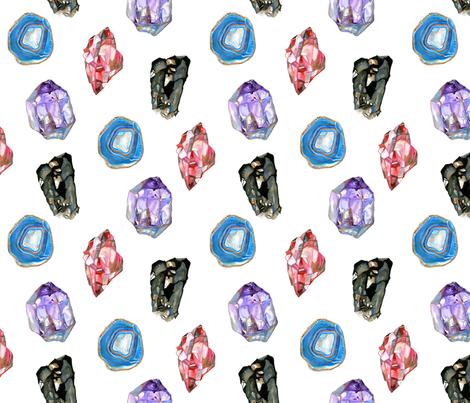 Gemstones-Large fabric by claybak on Spoonflower - custom fabric