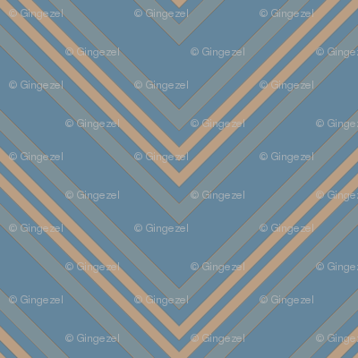 Pool Blue Chevron Small © Gingezel™