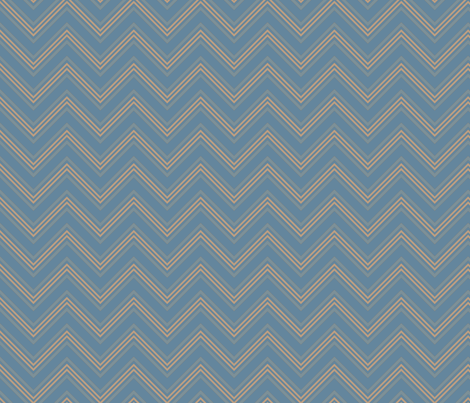 Pool Blue Chevron Small © Gingezel™ fabric by gingezel on Spoonflower - custom fabric