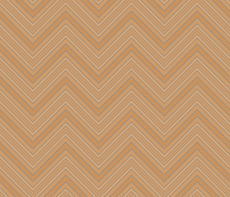 Tan Brown Blue Chevron © Gingezel™ fabric by gingezel on Spoonflower - custom fabric