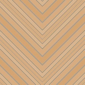 Tan Brown Blue Chevron © Gingezel™