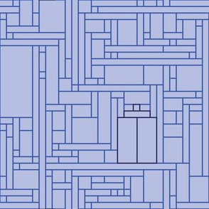 Mondrian Blue Box (minimalist)