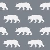 Bear Down in Charcoal Grey