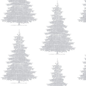 Forest Birch Trees in Linen Gray