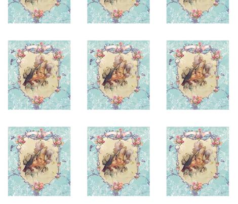 LIttle Girls in Aqua fabric by greerdesign on Spoonflower - custom fabric