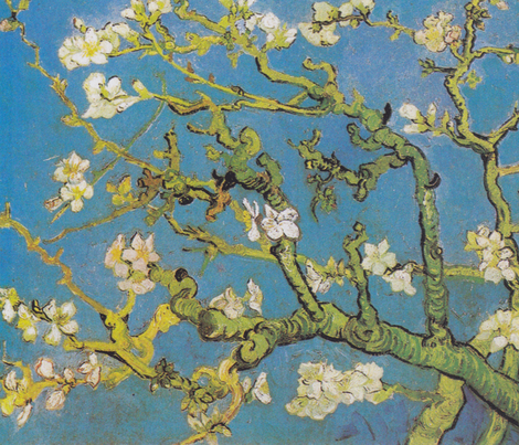 Van Gogh - Almond Blossoms (1890) fabric by studiofibonacci on Spoonflower - custom fabric