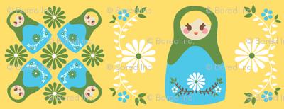 Cute Nesting Dolls - Yellow