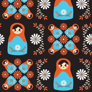 Cute Nesting Dolls - Black