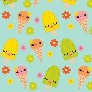 Kawaii Popsicles - Aqua