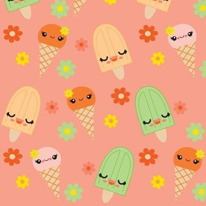 Kawaii Popsicles - Peach