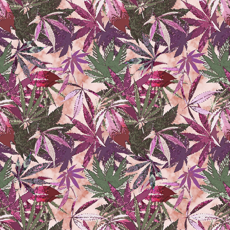 Camomoto Cannabis Marble (R) fabric by camomoto on Spoonflower - custom fabric