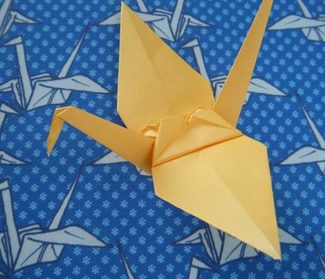 Paper Crane - Blue