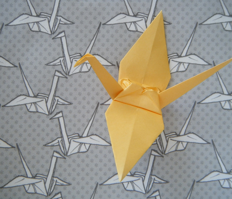 Paper Crane - Gray
