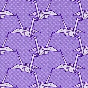 Paper Crane - Purple