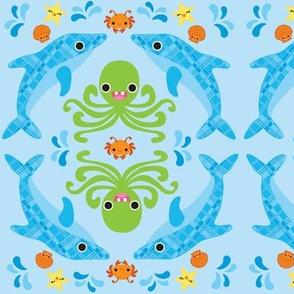Kawaii Ocean Print