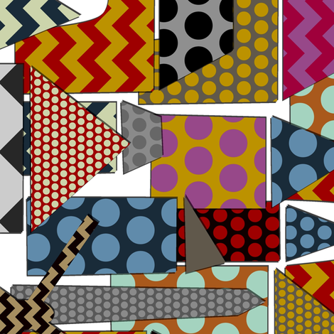 geo town border print fabric by scrummy on Spoonflower - custom fabric