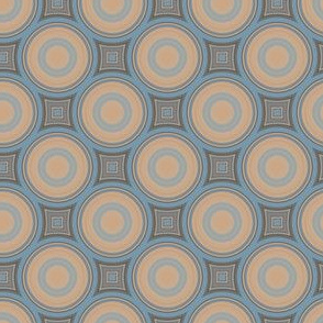 Brown and Blue Circles © Gingezel™