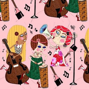 The Jazzy Jezebels pink large scale