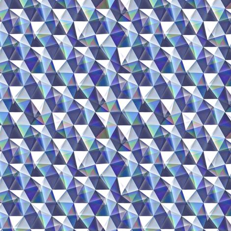 tanzanite crystals fabric by weavingmajor on Spoonflower - custom fabric