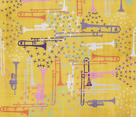 Spring Jazz - 7 fabric by owlandchickadee on Spoonflower - custom fabric