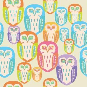 Multi + Colour + Owls