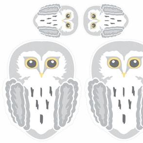 Snowy + Owl + Cushions