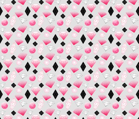 Gemstones fabric by oohoo on Spoonflower - custom fabric