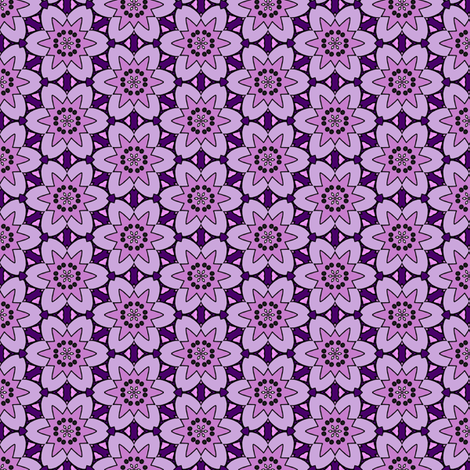 Purple Fool's Starflower fabric by siya on Spoonflower - custom fabric