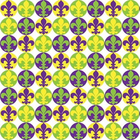 Fleur de Lis-Mardi-Gras fabric by writefullysew on Spoonflower - custom fabric