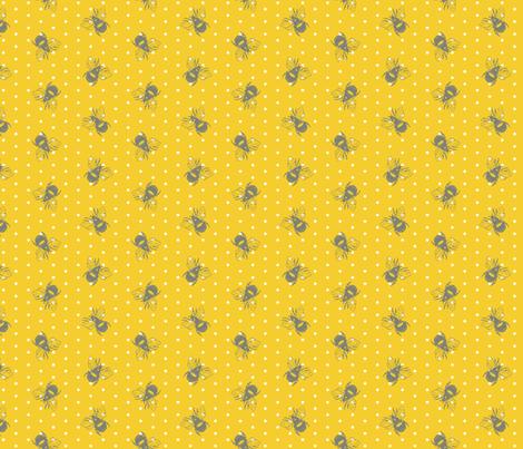 bumblebee_polka01 fabric by spaldilocks on Spoonflower - custom fabric