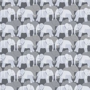 Cute Elephant Pattern - Grey