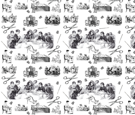 Betsy Ross Toile fabric by satsy123 on Spoonflower - custom fabric