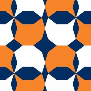 decagon orange - white - navy