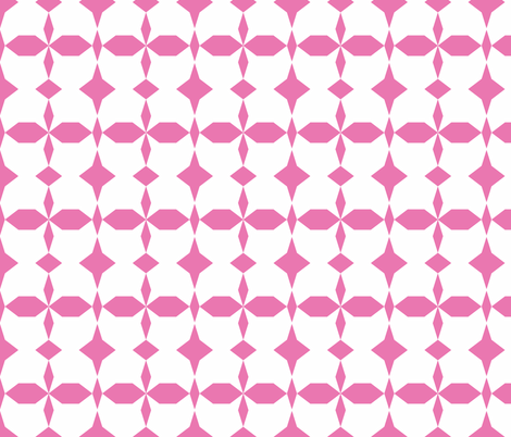 decagon pink - white fabric by arm_pillozzz on Spoonflower - custom fabric