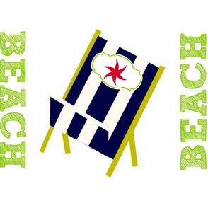My Beach Chair Star -  Navy Stripes Large