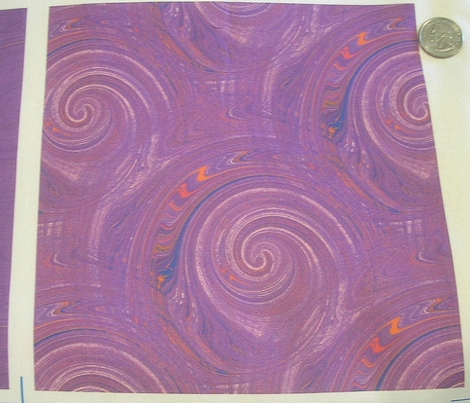 Groovy Multi Swirl purple orange blue