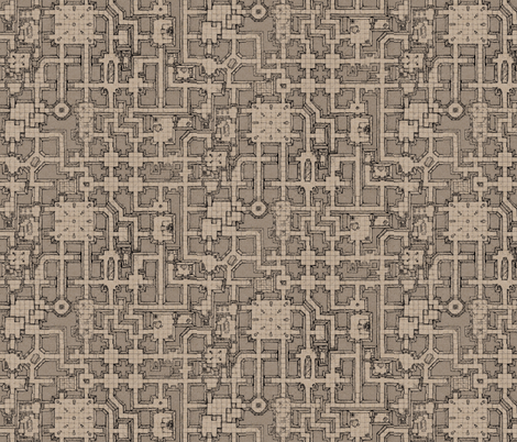 Sepia Dungeon III fabric by billiambabble on Spoonflower - custom fabric