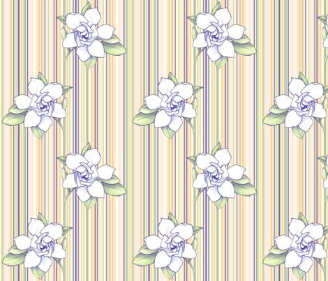 Gardenia stripe fabric by gretchendiehl on Spoonflower - custom fabric