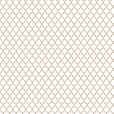 quatrefoil tan on white - small fabric by misstiina on Spoonflower - custom fabric