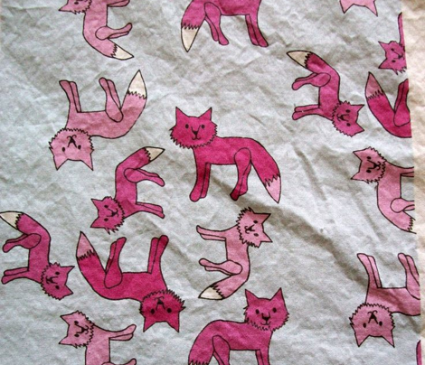 Pink Fox Print