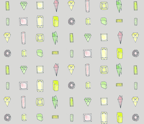 Gem fabric by t-w-i-n-k-l-e on Spoonflower - custom fabric