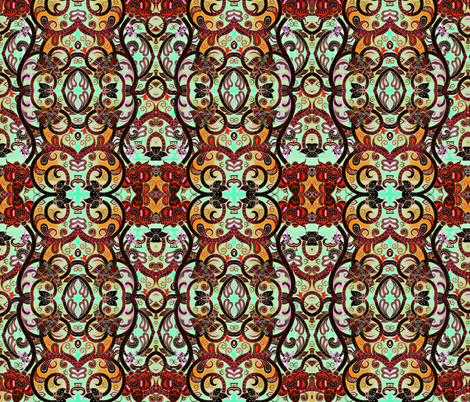 Ornamental  Florals fabric by whimzwhirled on Spoonflower - custom fabric