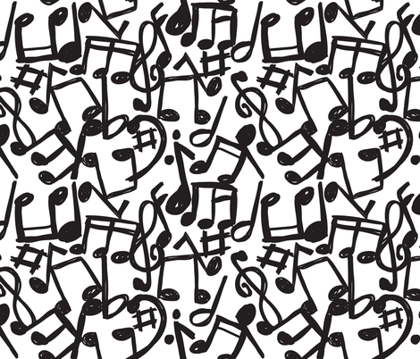music fabric by mondebettina on Spoonflower - custom fabric