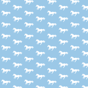 White Pony on Light Blue