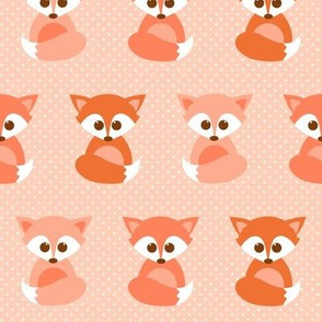 Baby foxes in peach
